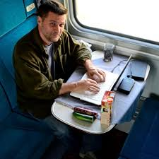 writing on train 2